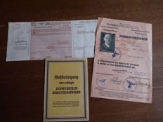 Three German documents WW2.