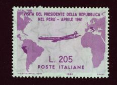 Republic of Italy – 1961 – President Gronchi's Visit to South America – Sassone catalogue no. 921  921