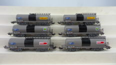 """Märklin H0 - 4788 - Two sets with a total of six 4-axle """"ETRA"""" tanker wagons of the SBB with inscription """"Shell/BP/Esso"""""""