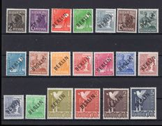 Berlin - 1948 - black overprint complete set 2 penny - 5 mark,