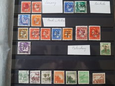 Japanese occupation of the Dutch Indies. Collection including letter fragments and prints.