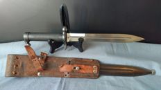 Swedish Mauser Rifle 1896 bayonet with leather frog