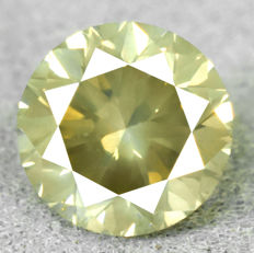 Diamond - 1.01 ct, VS2 Natural Fancy Intense Greyish Yellow