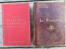 Lot of 2 old travel guides on Palestine: Palästina Handbuch (1934) and la Palestine (1912)
