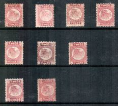 Great Britain 1870/79 - selection of 1/2d Bantams, Stanley Gibbons 48