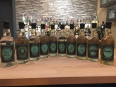 Collection of the 10 Experimental Batches of Gin from Dornoch Distillery