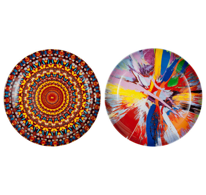 Damien Hirst - I Beautiful Amore & I am Become Death Plate Set