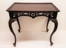 Wood carving - mahogany side table, United Kingdom, second half of 20th century