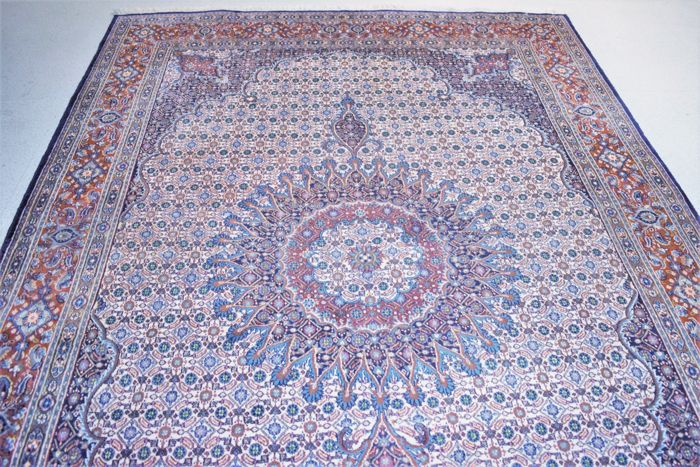 Gorgeous Persian rug, Moud with silk - 20th century around 1980 - 300 x 200 cm, mint condition - wtih certificate of authenticity