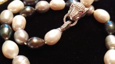 Multiple Colors Freshwater Pearls --Silver 925/1000__No Reserve Price!!!