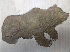 Conrad Gesner (1516 - 1565); folio woodcut leaf - Great Brown Bear - 1669
