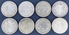United Kingdom - ½ Crown 1920/1933 George V (8 pieces) - silver