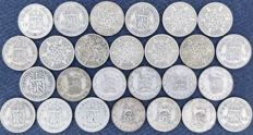 United Kingdom - 6 Pence 1914/1946 George V and VI (26 pieces) - silver