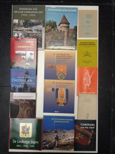 Militaria; Lot with 14 works in relation to Dutch military history - 1974/2013