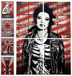 Shepard Fairey (OBEY) x Levis - Print Suite + Sticker Set