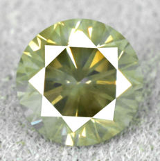 Diamond - 0.35 ct, VS 2 natural fancy greenish yellow	  - NO RESERVE PRICE