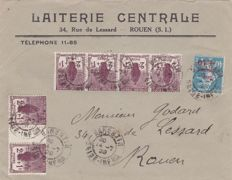 France 1922/38 - Little selection with Air post and two covers