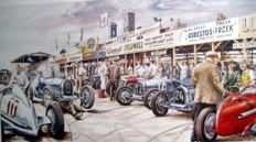 """Chiron's best win"" Features the great driver Louis Chiron (1899-1979) in the pits of a vintage race"