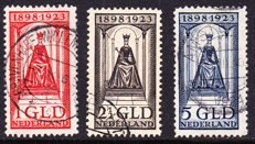The Netherlands 1923 - Anniversary of the Reign - NVPH 129, 130, 131