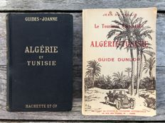 Lot of 2 old travel guides on Algeria and Tunisia: Algérie - Tunisie, guides Joanne (1911) and Guide Dunlop (1923)
