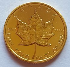 Canada - 5 Dollars 1986 'Maple Leaf' - 1/10 oz goud