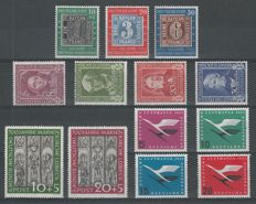 Federal Republic of Germany 1949/1955 - Selection - Michel 113/115, 117/120, 139/140, 205/208