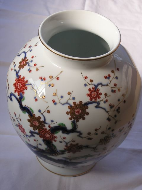 Large Fukagawa Vase Japan Ca 1950 80 Late Showa Period Catawiki
