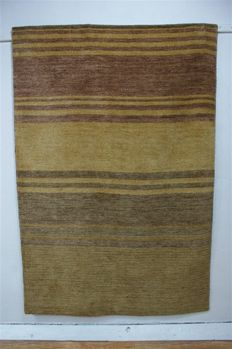 Modern hand-knotted carpet GABBEH Loribaft Loom approx. 180 x 120 cm NEW