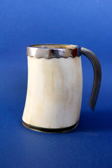 Vintage silver plated and ivory penholder - Italy, 1970