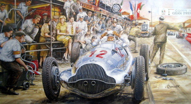 """Grand Prix Pescara 1938"" Coppa Acerbo - Mercedes-Benz W154 - Rudolf Carraciola"