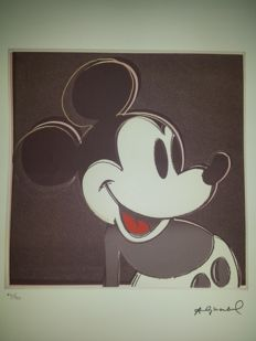 Andy Warhol - Lithograph published by Georges Israel - Mickey Mouse (1981)