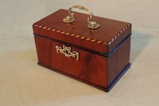 A mahogany Louis XVI tea caddy - the Netherlands – 1775-1785