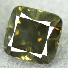 Diamond – 1.78 ct NO RESERVE PRICE – Natural Fancy Vivid Yellowish Green I1
