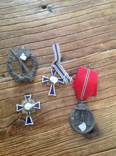 Lot with German medals WW2