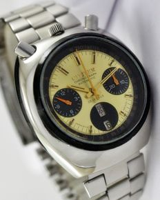"Citizen ""Bull-Head"" Flyback Chronograph Automatic Men's Wrist Watch - circa 1970s"