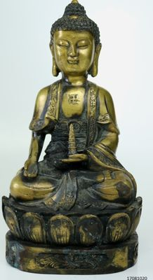 Statue - Buddha - bronze - China - late 20th century