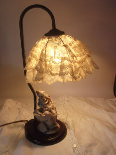 Uncknow - Brass & Pizzo Goose Neck Table Lamp