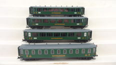 Liliput H0 - L350116 - Set with 4 Express passenger carriages of the Gotthardbahn (GB)