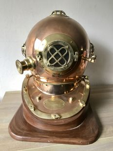 Life-size American Pearl Harbor Memorial diving helmet