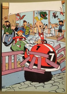 Various authors-161x cartoon postcards-including: Tintin + Asterix +Willy and Wanda + Spirou + Sjors & Sjimmie + The Smurfs + Garfield + Olivier Bommel + .... (1960s-2010)