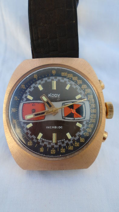 KODY incabloc *draft Swiss chronograph - men's 1960