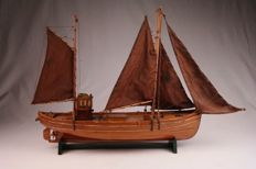 Model of a herring logger, approx. 100 years old