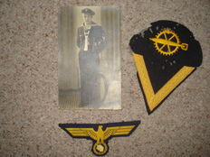 Navy breast Eagle for troops, activity badges, photo of the carrier