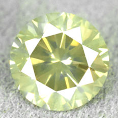 Diamond – 0.50 ct Natural Fancy Greyish Yellow – Si2 – NO RESERVE PRICE