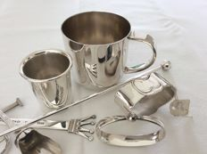 Various silver plated small articles, Robbe en Berking, Wedgwood and Zilverstad