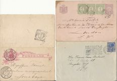 The Netherlands and Overseas 1890/2001 - Batch with among others letters, FDCs and stamps