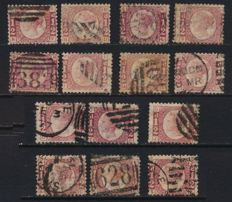 Great Britain 1855/1880 - Selection on stock cards
