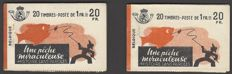 "Belgium 1941 - 2x Stamp booklet with advertisement ""Une pêche miraculeuse"" - OBP no. A35a"