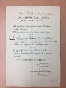 Decree by Gioacchino Napoleone