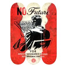 Shepard Fairey (OBEY) - No Future - Skate Deck Triptych